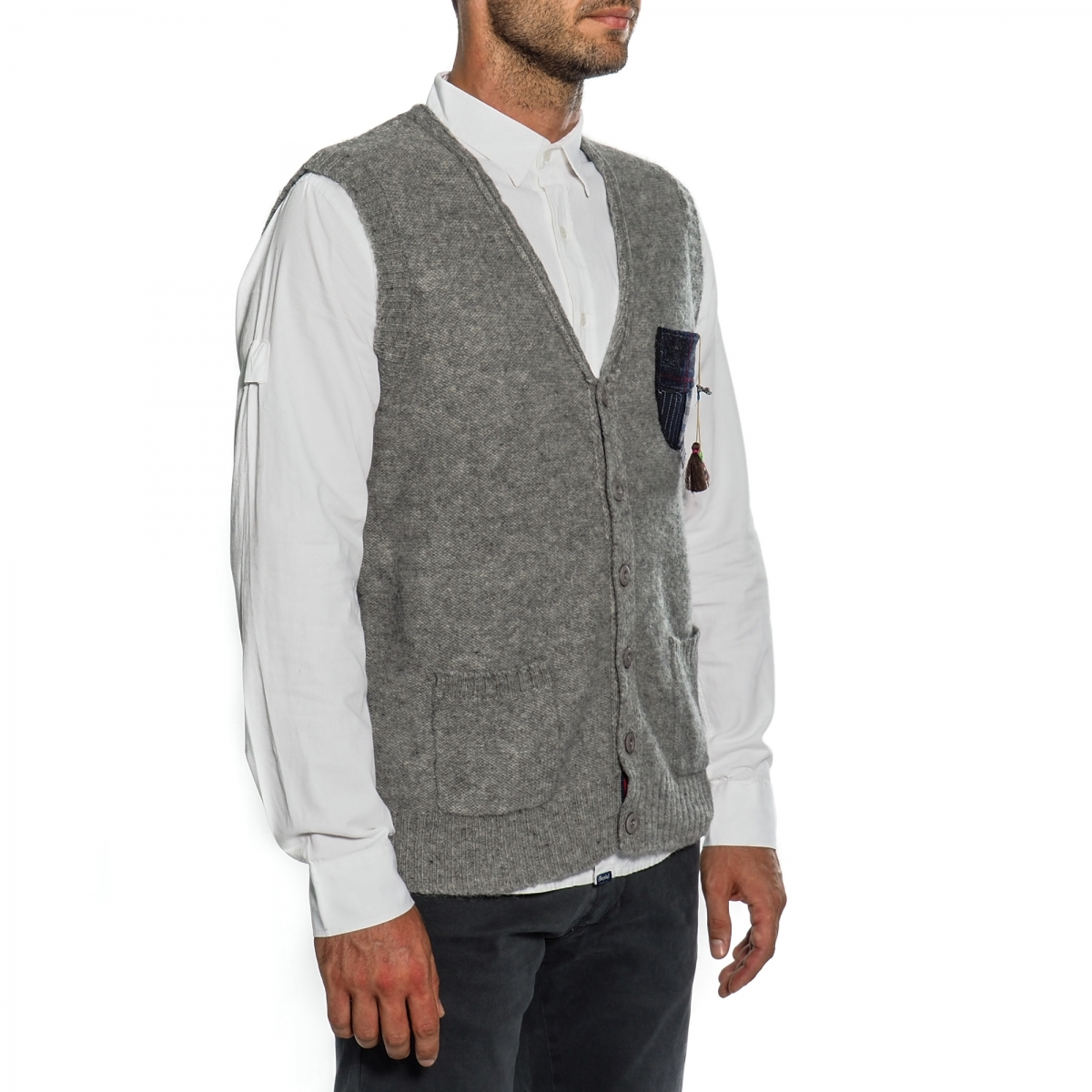 sconti abbigliamento uomo Giacche e Gilet OUTLET GLS32096 GRIGIO Cafedelmar Shop