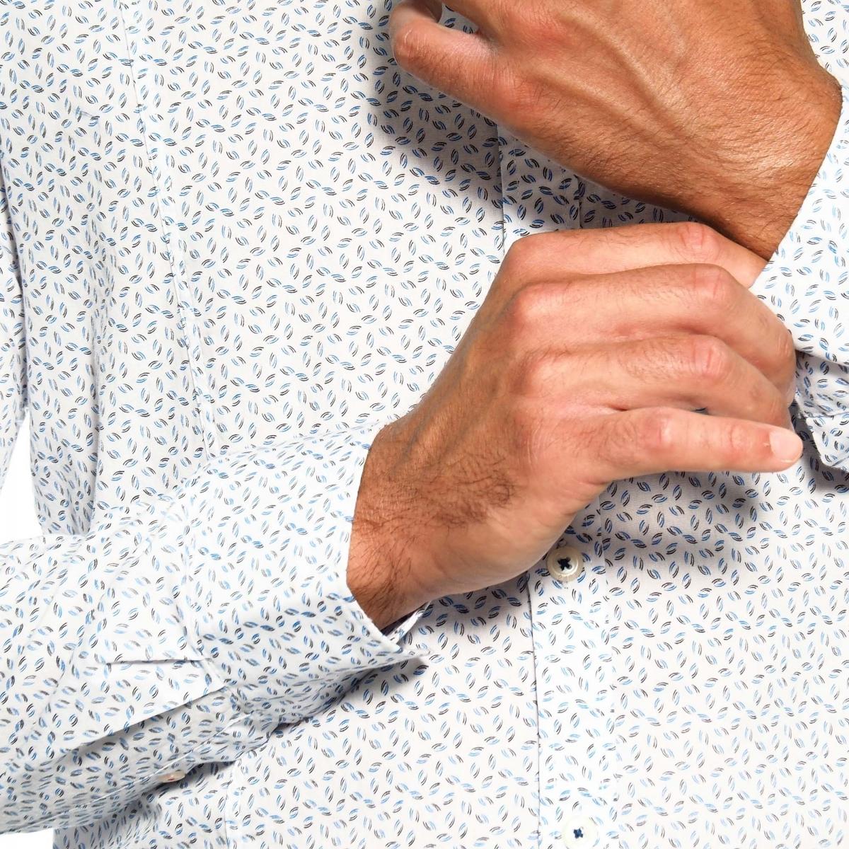 sconti abbigliamento uomo Camicie OUTLET GLS17017 BIANCO Cafedelmar Shop