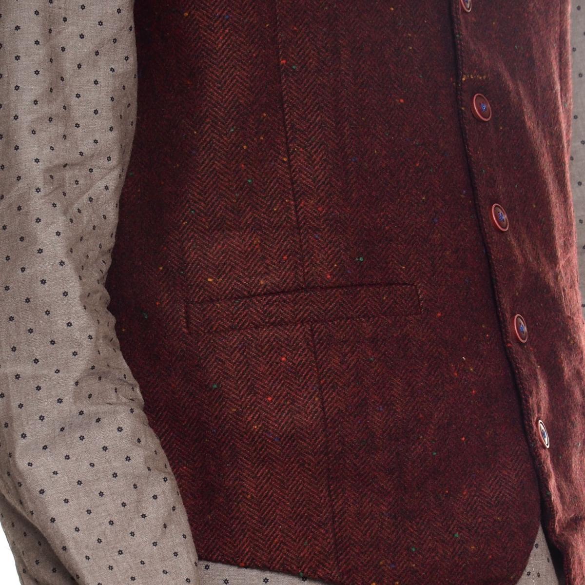 sconti abbigliamento uomo Giacche e Gilet OUTLET GLS17389 BORDEAUX Cafedelmar Shop