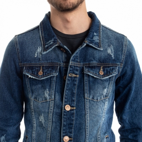 clothing Jackets men Giubbino Jeans LPHM1087 LANDEK PARK Cafedelmar Shop