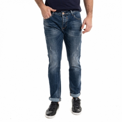 Jeans Landek Park blu scuro da uomo slim fit LPHM1075