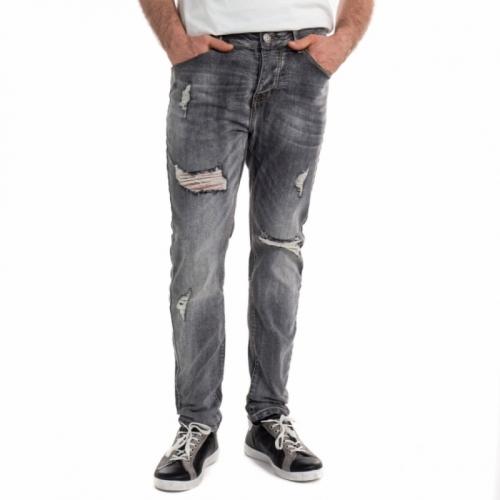 Jeans neri con strappi ed effetto slavato. LPHM1098