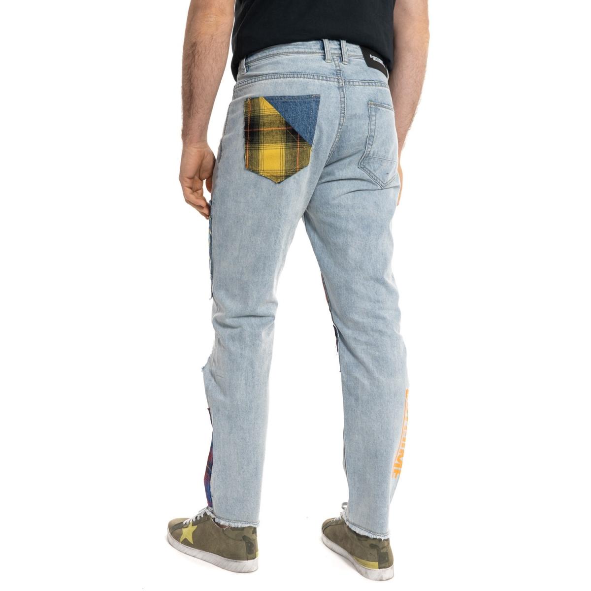 abbigliamento Jeans uomo Jeans con toppe GLOT688Y GIANNI LUPO Cafedelmar Shop