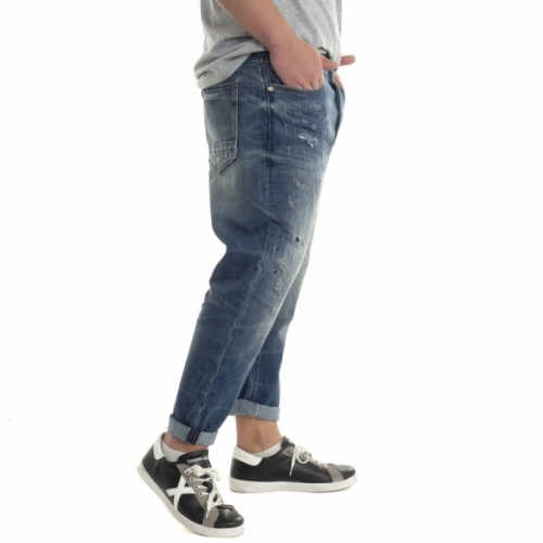Verkäufe von Herrenbekleidung Jeans GL073F BLU Cafedelmar Shop