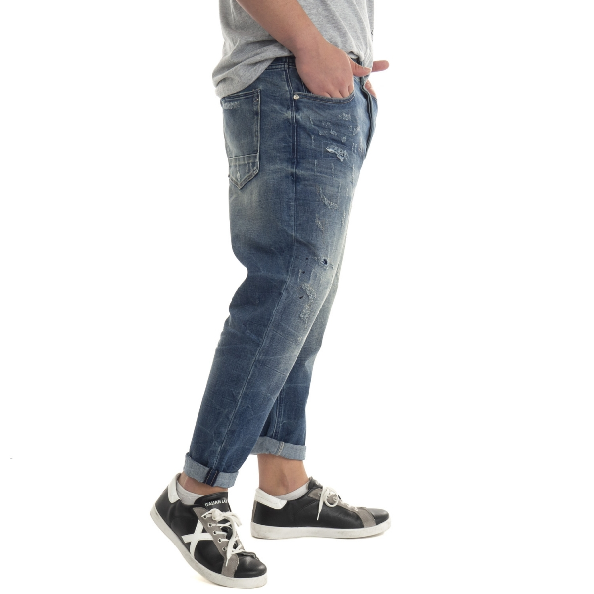 vêtements Jeans homme GL073F BLU Cafedelmar Shop