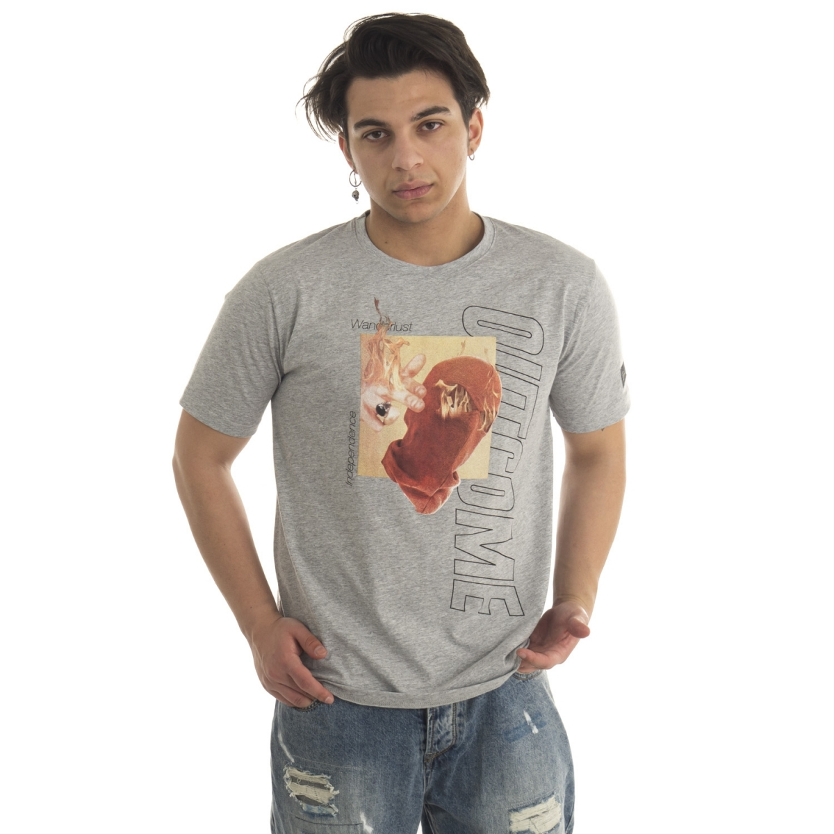 clothing T-shirt men T-Shirt GLUG70631 GIANNI LUPO Cafedelmar Shop