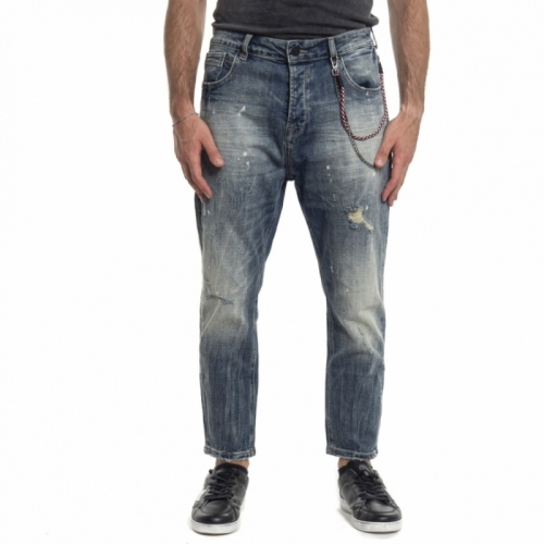 Jeans carrot-fit by Gianni Lupo GL088F