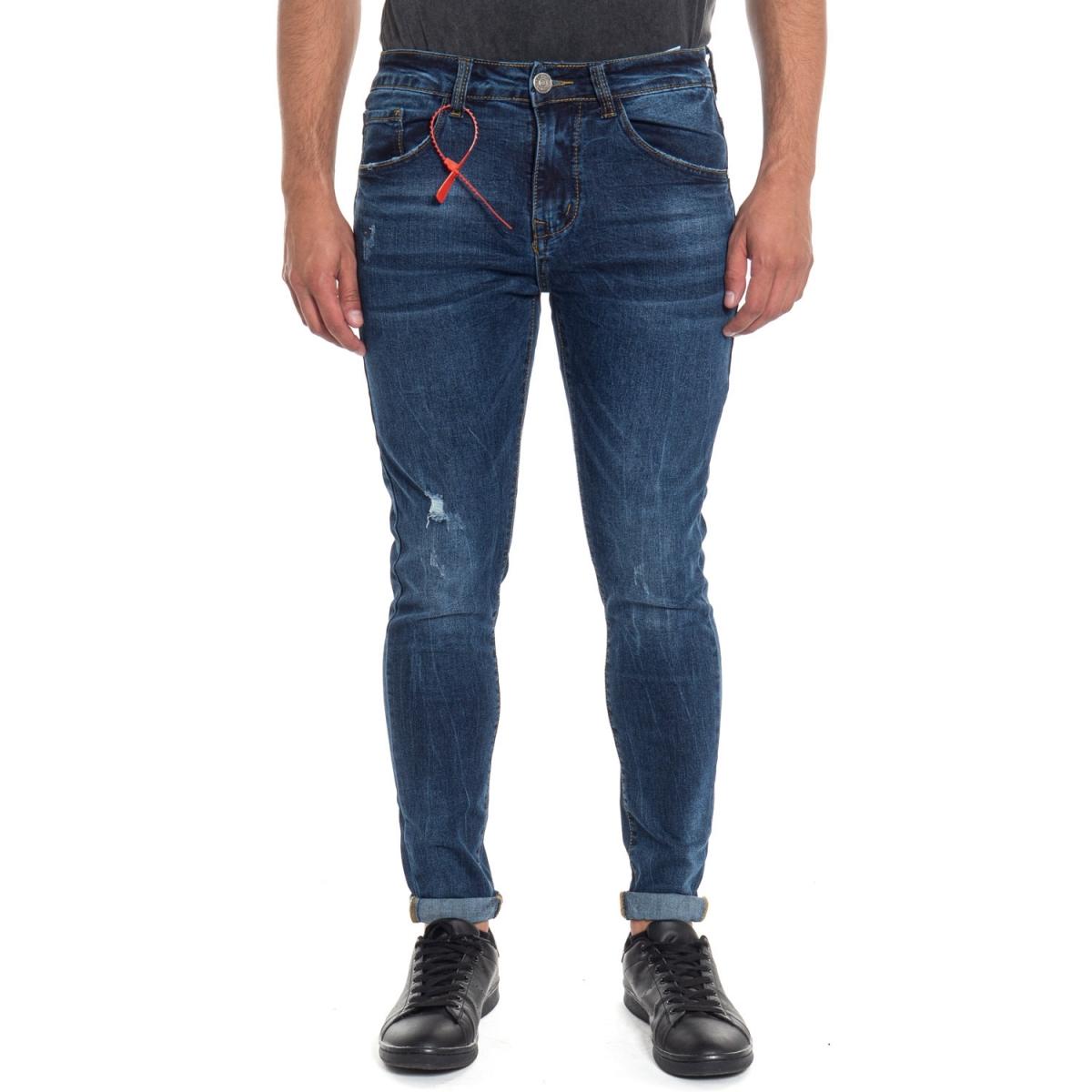 abbigliamento Jeans uomo Jeans Skinny Fit LPM2202 LANDEK PARK Cafedelmar Shop