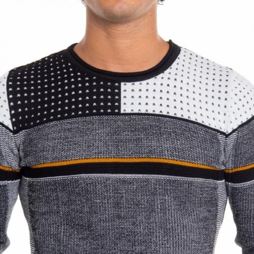 Kleidung Strickwaren mann Maglia NB402 NEROGRANIT Cafedelmar Shop