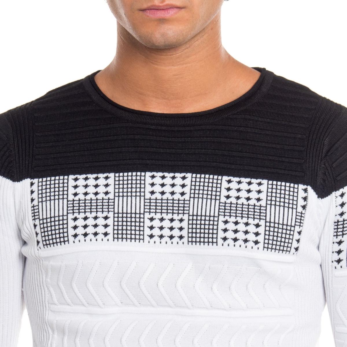 ropa Prendas de punto hombre Maglia NBK8039 NEROGRANIT Cafedelmar Shop