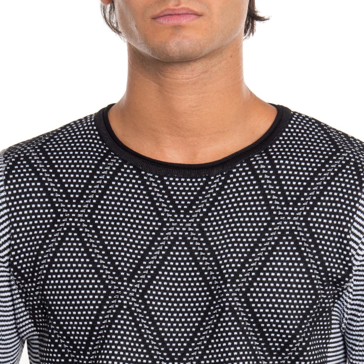 ropa Prendas de punto hombre Maglia NBK8069 NEROGRANIT Cafedelmar Shop