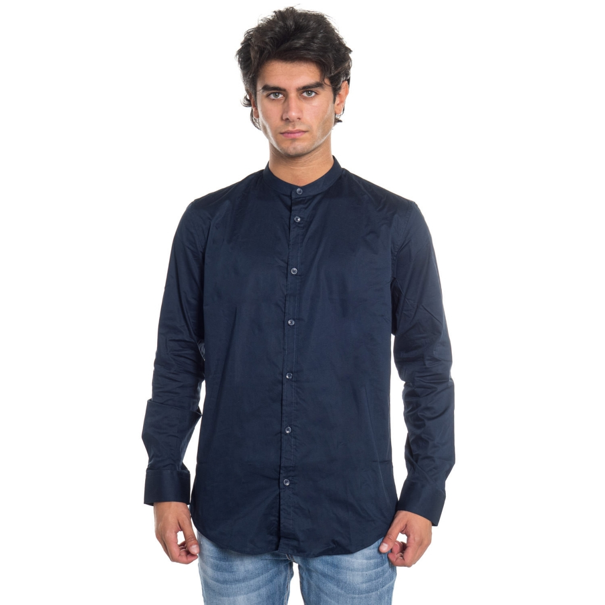 vêtements Chemises homme LPHN5052 NERO Cafedelmar Shop