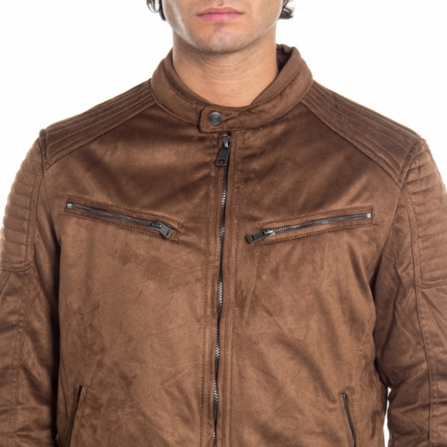 abbigliamento Giubbini uomo Giubbino in pelle LPP1762 LANDEK PARK Cafedelmar Shop