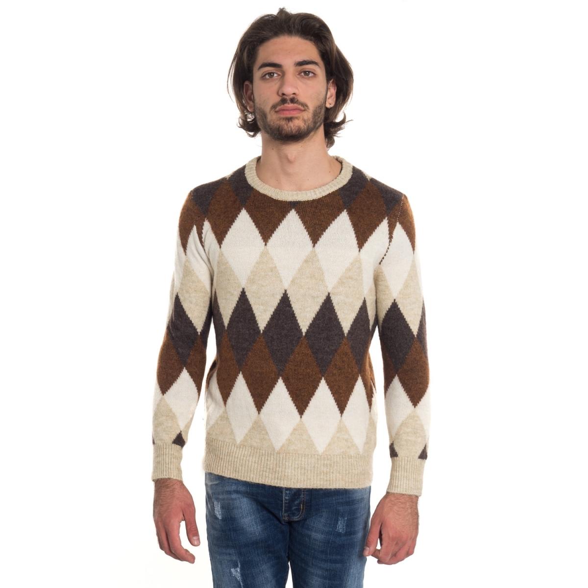vêtements Tricots homme LPL319 MARRONE Cafedelmar Shop