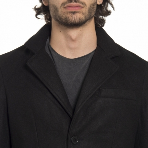 clothing Jackets men Cappotto NP1768 NEROGRANIT Cafedelmar Shop