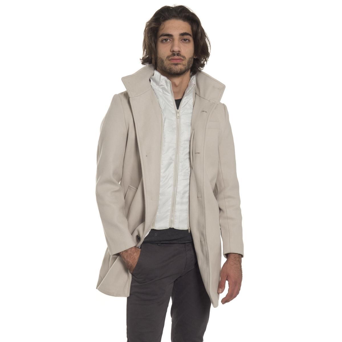 abbigliamento Giubbini uomo Cappotto con gilet NP1769 NEROGRANIT Cafedelmar Shop