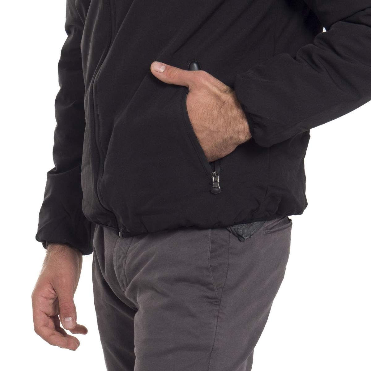 clothing Jackets men Giubbino NGA6273 NEROGRANIT Cafedelmar Shop